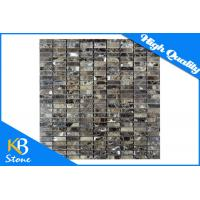 Quality Flooring Dark Emperador Marble Subway Pattern Polished Tile Floor Decorative Mosaic Tiles for sale
