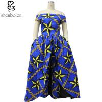 Dashiki fabric African print dresses 100% cotton wax fabric off shoulder Manufactures