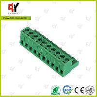 Wire Range 28-12 AWG Pluggable Terminal Block Connector , Electrical Connector Block Manufactures