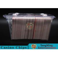 Buy cheap Anti - Theft Transparent 8 Decks Poker Discard Holder For Card Entertainment from wholesalers