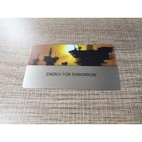 China CR80 Stainless Steel Metal Business Cards Gold Silver Matte Black Brush on sale