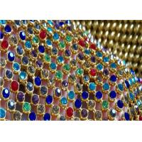 Crystal Sequin Mesh Fabric / Fine Metal Mesh Fabric For Interior Decoration Manufactures