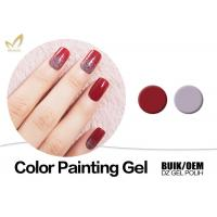 China Organic UV Gel Nail Gel Paint , No Fade 3d Gel Paint Chemical Free on sale