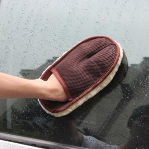 China high quality car care sheepskin wool wash mitt on sale