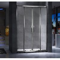Four Doors Custom Glass Shower Doors And Frame Translucent PVC Strips Waterproof Manufactures