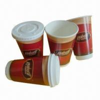 12oz Double-wall Paper Cups with Flexo Printing/FDA Mark, Made of 320gsm Sun Paper Manufactures