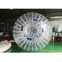 China White Outdoor Inflatable Toys Inflatable Body Glow Zorbing Ball With LED Light on sale