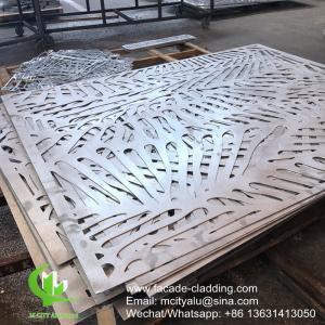 China Powder coated Metal aluminum laser cut panel cladding for facade exterior cladding Manufactures