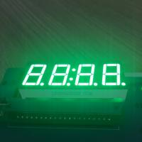 Pure Green 4 Digit 7 Segment Led clock Display 0.56 Inch  common anode For Instrument Panel Manufactures
