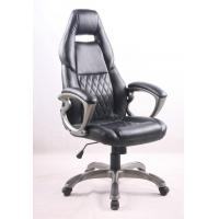 Black PU Porsche Racing Office Chair with Painting Armrest Executive Leather Office Chair Manufactures
