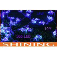 Outdoor Waterproof 5m / 10m LED String Lights 100pcs Blue Bulbs Manufactures