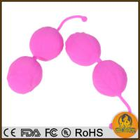 China Real Skin Softy Silicone Balls, Ben Wa Balls, Vaginal Tight Exercise Machine Vibrators on sale