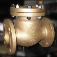 Flap Type Bronze Swing Check Valve , Metal Seated Check Valve Integral Seat RF RTJ BW Manufactures