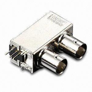 75Ω RF Connector with Dual-port All Metal BNC R/A PCB Mount Receptacle Manufactures