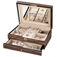Custom made Double layers Small Wooden Jewellry Box with lids for women