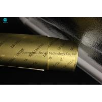 Sheet Cigarette Aluminum Foil Paper In Bright And Matt Gold 83mm For King Size Cigarette Box Manufactures
