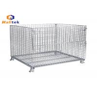 Folded Stacking Wire Mesh Storage Cages Collapsible Fireproof Steel Material Manufactures