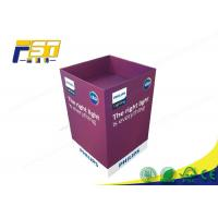 China Eco - Friendly Paper Cardboard Recycling Bins Snacks Retail Point Of Purchase Displays on sale
