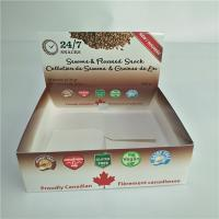 China Kraft Paper Box Packaging Corrugated Retail Counter Lip Balm Whey Protein Bar Type on sale