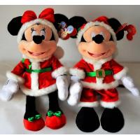 Custom Plush Toys Christmas Disney  Mickey Mouse And Minnie Mouse Toys 45cm Manufactures