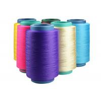China Dyed Color Polyester DTY Yarn , Low Elastic Polyester Texturised Yarn 150D / 48F on sale