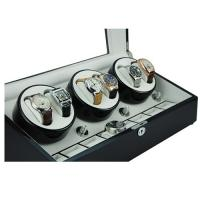 China High quality brown wooden display boxes cheap automatic watch winder with leather lining on sale