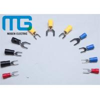 Series SV copper electrical spade Insulated Wire Terminals red blue black yellow TU-JTK Manufactures