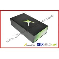 China Matt Black Luxury Gift Boxes 350gsm , Offset Printing Magnetic Boxes on sale