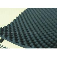 Black High Density Acoustic Foam Panels Egg Crate Soundproof Rubber Foam 20mm Manufactures