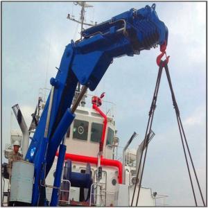 Knuckle Hydraulic Boom Hose Handling Crane for Sale Marine Ship Deck Crane Manufactures