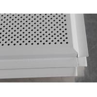 China Fireproof Beveled Edge Lay In Ceiling Tiles installed with Tee Bar PD6012T on sale