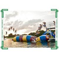0.6mm PVC tarpaulin Inflatable Water Games Catapult Blob / Water Jumping Pillow Manufactures