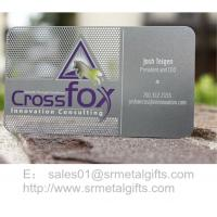 Photo chemical etching business cards