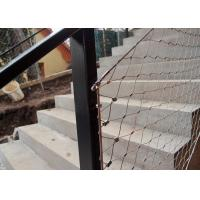 Decorative Ferrule Flexible Stainless Steel Wire Rope Mesh Fence For Stair Railing Manufactures