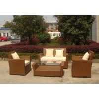 Buy cheap KD 4pcs cheap garden sofas outdoor rattan sofa as customized color from wholesalers