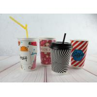 Red / Black Personalized Insulated Paper Cups Custom Disposable Coffee Cups Manufactures