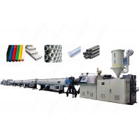 China High Capacity Control Extrusion Pvc Pipe Manufacturing Equipment With Twin Screw on sale