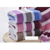 Super Hygroscopicity / Stripe Design Terry Compact Sport Towel For Gym 35 * 75cm Manufactures