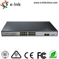 16 Gigabit Port + 2 SFP Port Ethernet POE Switch , 15.4W Unmanaged Ethernet Switch Manufactures