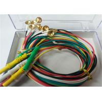 1.5m TPU EEG Cables With Gold Plating Copper Electrodes 2.0mm Connector Manufactures