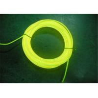 Auto EL Lighting Electro Illumination Wire Yellow For Warning Signs / EL Wire Cable Manufactures