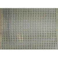 Square Hole Perforated Stainless Steel Plate , Length 1m Perforated Mesh Sheet Manufactures
