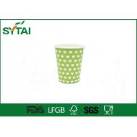 Beverage Green Like Dotted Single Wall Paper Cups Disposable Love Printing Manufactures