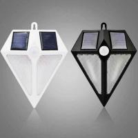 China Diamond Shape Solar Outdoor Wall 6 LED Light IP65 Water Proof Resistance PIR Motion Sensor 3 Modes Lights on sale