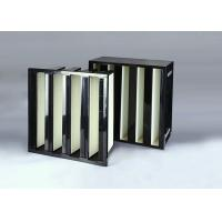 Industrial V Bank Air Filter , 24x24x12 HEPA Filter ISO Certification Manufactures