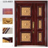 Antitheft security metal door luxury cast aluminum spliced unequal double door Manufactures