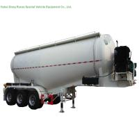48-60cbm Tri Axle Tank Semi Trailer For Carry Bulk Cement With Carbon Steel Tank Manufactures