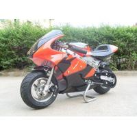 Red Mini Gas Dirt Bikes 110cc , Electric Start Small Dirt Bikes Automatic Transmission Manufactures