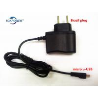 Buy cheap Brazil Plug Wall Mount Power Adapter Black White Power Supply 5V 0.5A 1A from wholesalers