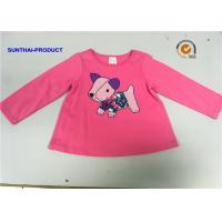 China Round Neck Children T Shirt Screen Print / Applique Emb Full Sleeve Tops For Baby Girl on sale